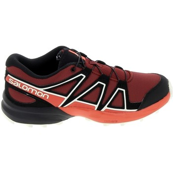 Skor Barn Sneakers Salomon Speedcross K Rouge Noir Röd