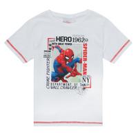 textil Pojkar T-shirts TEAM HEROES  SPIDERMAN TEE Vit