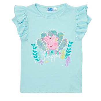 textil Flickor T-shirts TEAM HEROES  PEPPA PIG TEE Blå