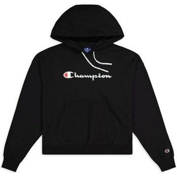 textil Dam Sweatshirts Champion Hooded Sweatshirt Nbk Svarta