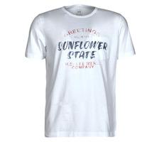 textil Herr T-shirts Lee SS POSTER TEE Vit