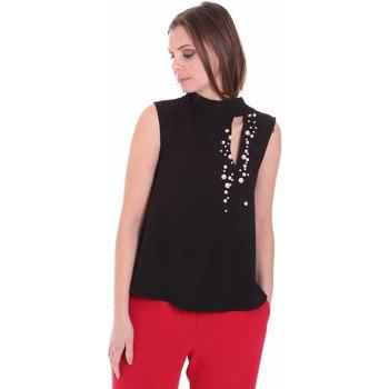 textil Dam Blusar Nenette 26BB-FERLY Svart