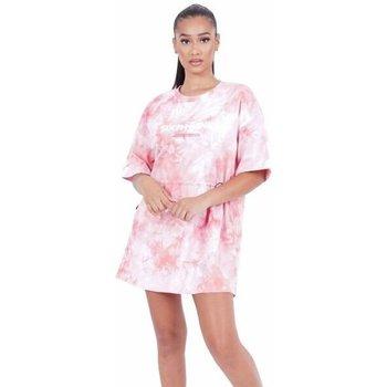 textil Dam Korta klänningar Sixth June Robe femme  Tie and dye rose