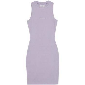 textil Dam Korta klänningar Sixth June Robe femme  Rib Essential bleu lila