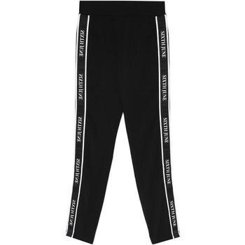 textil Dam Joggingbyxor Sixth June Legging  bande imprimée noir/blanc