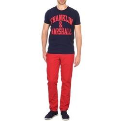textil Herr Chinos / Carrot jeans Franklin & Marshall GLADSTONE Röd
