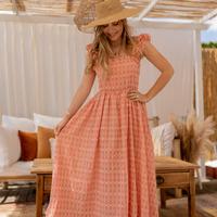 textil Dam Långklänningar Céleste AURORE Rosa