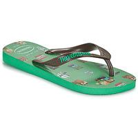 Skor Pojkar Flip-flops Havaianas KIDS MINECRAFT Grön