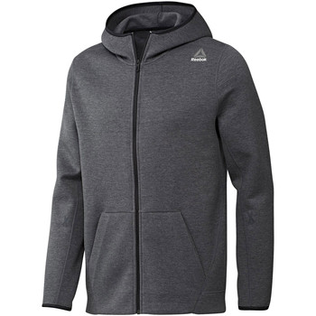 textil Herr Sweatshirts Reebok Sport Fitness Qc Dk Fz Hood Grå