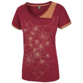textil Dam T-shirts Salewa 251661651 Körsbär