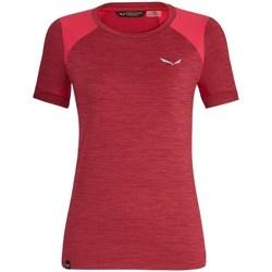 textil Dam T-shirts Salewa 271251830 Körsbär