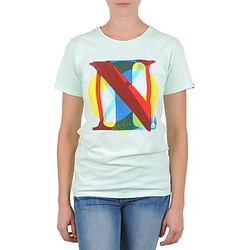 textil Dam T-shirts Nixon PACIFIC Grön