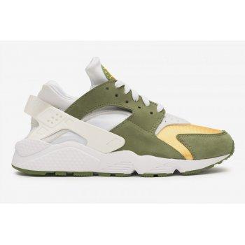 Skor Sneakers Nike Air Huarache LE x Stussy Dark Olive Dark Olive/White-Varsity Maize-Ivory