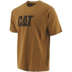 textil Herr T-shirts Caterpillar  Brons
