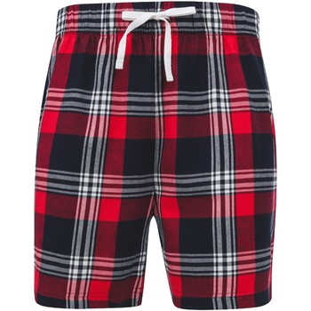 textil Herr Shorts / Bermudas Skinni Fit SFM82 Röd/marinefärgad ruta