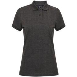 textil Dam Kortärmade pikétröjor Asquith & Fox AQ025 Kol