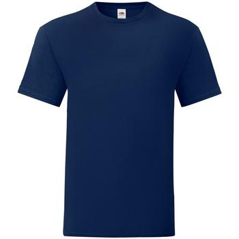 textil Herr T-shirts Fruit Of The Loom 61430 Marinblått