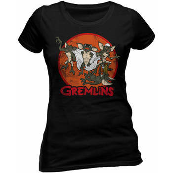 textil Dam T-shirts Gremlins  Svart