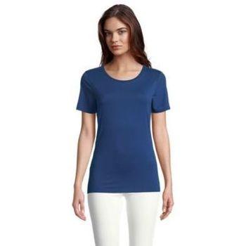 textil Dam T-shirts Sols LUCAS WOME Azul oscuro