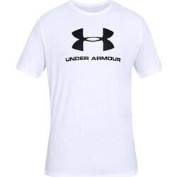 textil Herr T-shirts Under Armour Sportstyle Logo Tee Vit