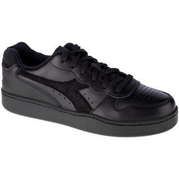 Skor Herr Sneakers Diadora Mi Basket Low Noir