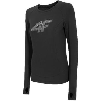 textil Dam Långärmade T-shirts 4F Women's Functional Longsleeve Noir