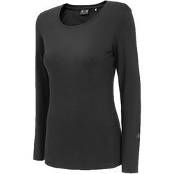 textil Dam Långärmade T-shirts 4F Women's Longsleeve Noir