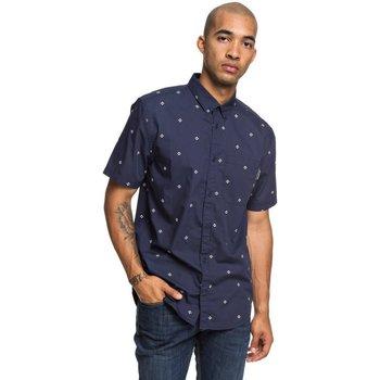 textil Herr Långärmade skjortor DC Shoes Up Pill Short Sleeve Shirt Blå