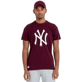 textil Herr T-shirts New-Era Team Logo New York Yankees Brun