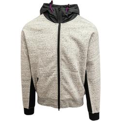 textil Herr Sweatshirts Converse Mixed Media Full-Zip Hoodie Grå