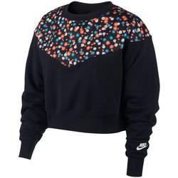 textil Dam Sweatjackets Nike Nsw Heritage Cropped Svart