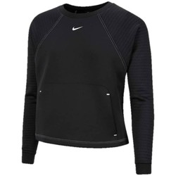 textil Dam Sweatjackets Nike Pro Luxe Crew Svart