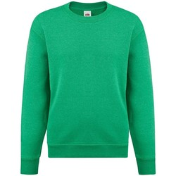 textil Flickor Sweatshirts Fruit Of The Loom SS9B Heather Green