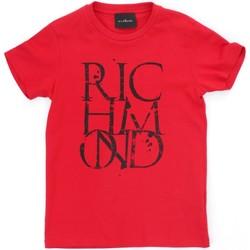textil Pojkar T-shirts Richmond Kids RBP21038TS Red