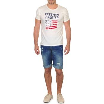 textil Herr Shorts / Bermudas Freeman T.Porter DADECI SHORT DENIM Blå