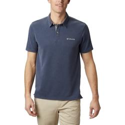 textil Herr Kortärmade pikétröjor Columbia Nelson Point Polo Bleu marine