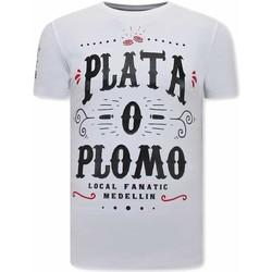 textil Herr T-shirts Local Fanatic Narcos Plata O Plomo Vit