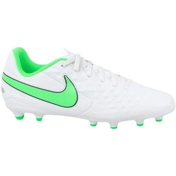 Skor Barn Fotbollsskor Nike JR Tiempo Legend 8 Club MG Vit, Gröna