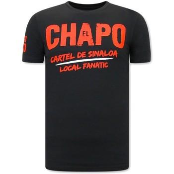 textil Herr T-shirts Local Fanatic EL Chapo Cartel De Sinaloa Svart