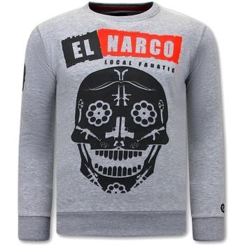 textil Herr Sweatshirts Local Fanatic El Narco Swea Grå