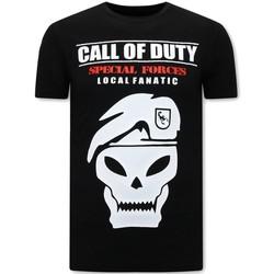 textil Herr T-shirts Local Fanatic Tryck Call Of Duty Svart