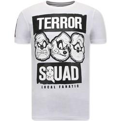 textil Herr T-shirts Local Fanatic Tryck Beagle Boys Squad Vit
