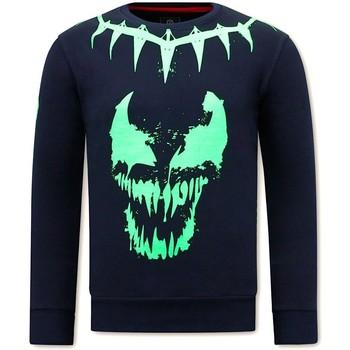 textil Herr Sweatshirts Local Fanatic Venom Face Neon Blå