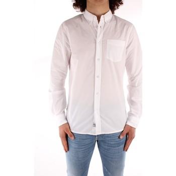 textil Herr Långärmade skjortor Blauer 21SBLUS01223 WHITE