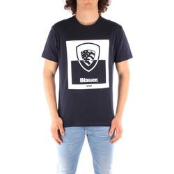 textil Herr T-shirts Blauer 21SBLUH02131 BLUE
