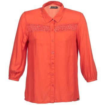 textil Dam Långärmade skjortor Volcom KNOTTY Röd
