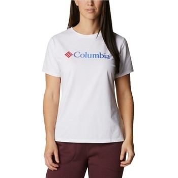 textil Dam T-shirts Columbia Sun Trek W Graphic Tee Blanc