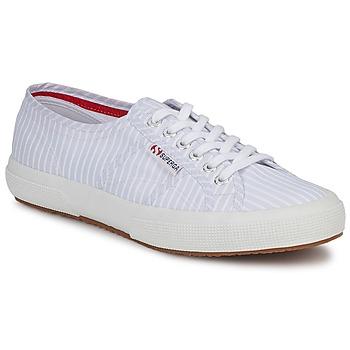 Skor Sneakers Superga 2750 COTUSHIRT Vit / Blå