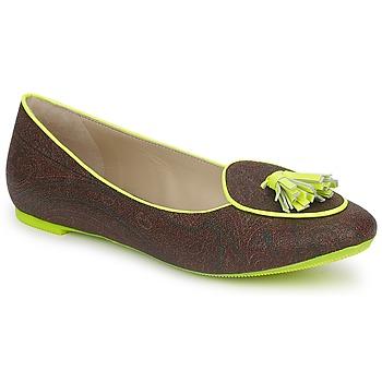 Skor Dam Loafers Etro BALLERINE 3738 Brun / Citrongul