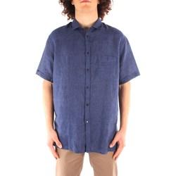 textil Herr Kortärmade skjortor Trussardi 52C00213 1T002248 NAVY BLUE